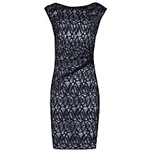 Buy Reiss Lace Gathered Dress, Navy Online at johnlewis.com