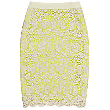 Buy Reiss Lace Mini Skirt, Cream Online at johnlewis.com