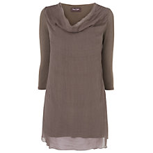 Buy Phase Eight Made in Italy Kimberley Silk Tunic Top, Mushroom Online at johnlewis.com