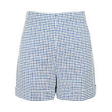 Buy Reiss Check Print Tailored Shorts, Blue Online at johnlewis.com