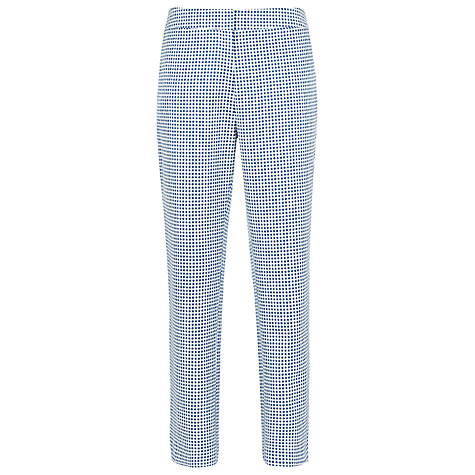 Buy Reiss Checked Capri Trousers, Blue Online at johnlewis.com