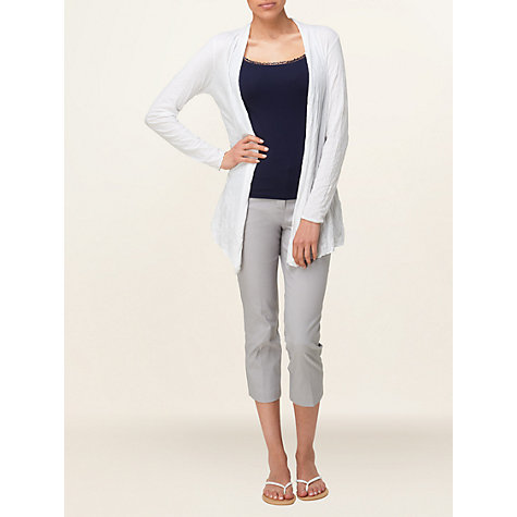 Buy Phase Eight Crinkle Cardigan, White Online at johnlewis.com