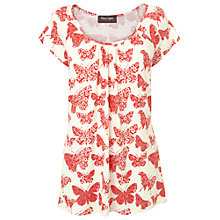 Buy Phase Eight Tallulah Butterfly Print Top, Red/White Online at johnlewis.com
