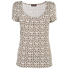 Buy Phase Eight Heart T-Shirt, Mushroom/Ivory Online at johnlewis.com