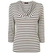 Buy Phase Eight Carrie Striped Top, Mushroom/Ivory Online at johnlewis.com