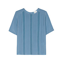 Buy Reiss Button Back Top, Blue Online at johnlewis.com