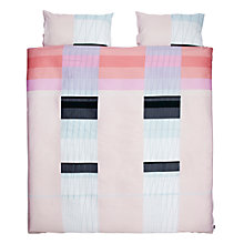 Buy HAY Colour Block Duvet Cover and Pillowcase Set, Pink Online at johnlewis.com