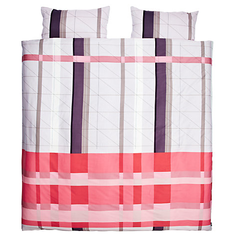 Buy HAY Colour Block Duvet Cover and Pillowcase Set, Red Online at johnlewis.com