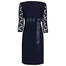 Buy James Lakeland Bow Front Dress, Navy Online at johnlewis.com