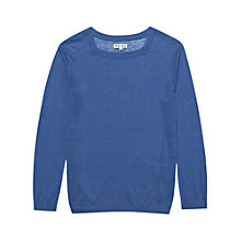 Buy Reiss Linen Mix Top, Cobalt Online at johnlewis.com