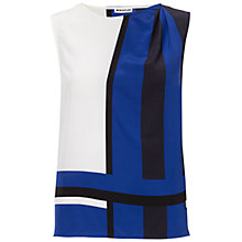 Buy Whistles Karlie Scarf Print Top, Blue Online at johnlewis.com