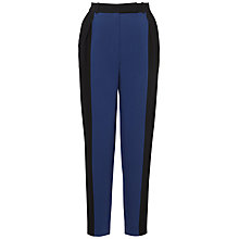 Buy Whistles Clarisse Colour Block Trousers, Navy Online at johnlewis.com