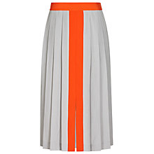 Buy Reiss Pleated Contrast Skirt, Marble Online at johnlewis.com