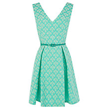 Buy Oasis Jacquard Dress, Pale Green Online at johnlewis.com