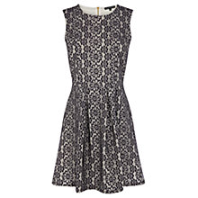 Buy Warehouse Daisy Lace Dress, Navy Online at johnlewis.com