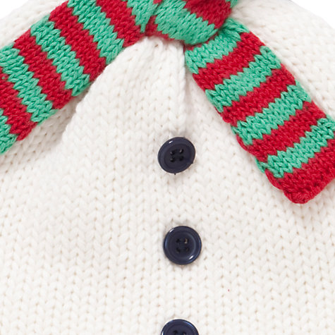 Buy John Lewis Baby Snowman Hat, Cream Online at johnlewis.com