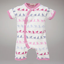 Buy Organics For Kids Bird Printed Shorty Suit, Pink Online at johnlewis.com