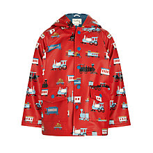 Buy Hatley Boys' Trains Raincoat, Red Online at johnlewis.com