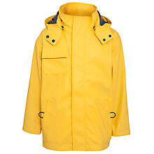 Buy Hatley Boys' Splash Waterproof Jacket, Yellow Online at johnlewis.com