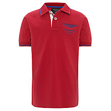 Buy Hackett London Boys' Aston Martin Racing Polo Shirt, Red Online at johnlewis.com