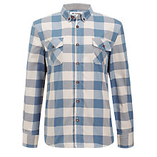 Buy Ben Sherman Boys' Long Sleeve Gingham Shirt, Blue/White Online at johnlewis.com