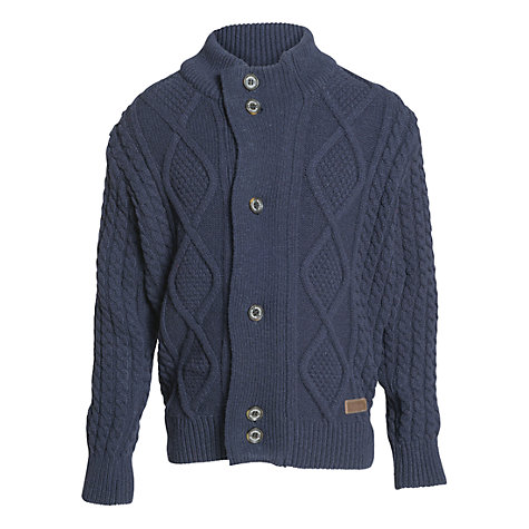 Buy Barbour Boys' Kirkham Cardigan, Navy Online at johnlewis.com