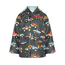 Buy Hatley Boys' Monster Truck Raincoat, Grey Online at johnlewis.com