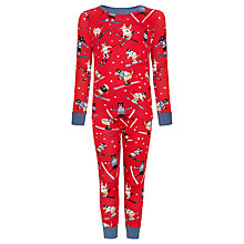 Buy Hatley Boys' Ski Dog Pyjamas, Red Online at johnlewis.com