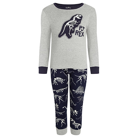 Buy Hatley Boys' Dinosaur PJ Rex Pyjamas, Navy/Grey Online at johnlewis.com
