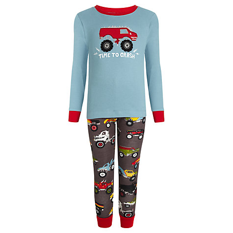 Buy Hatley Boys' Monster Truck Print Pyjamas, Multi Online at johnlewis.com
