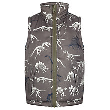 Buy Hatley Boys' Reversible Dino Bones Gilet, Green/Multi Online at johnlewis.com