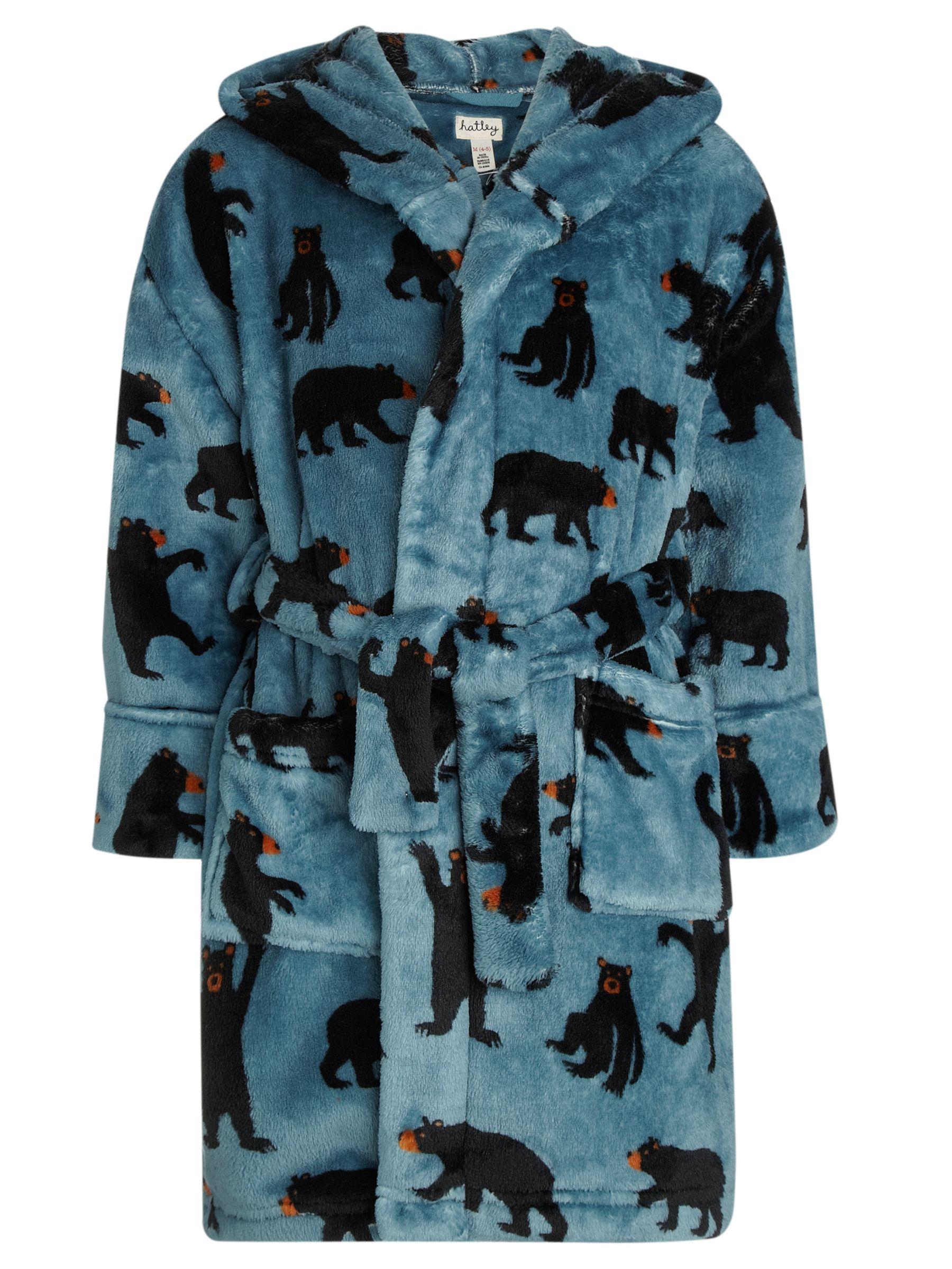 Hatley Black Bears Robe, Blue