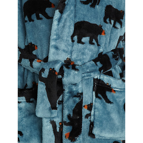 Buy Hatley Boys' Black Bears Robe, Blue Online at johnlewis.com