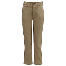 Buy Barbour Boys' Rough Chino Trousers, Sand Online at johnlewis.com