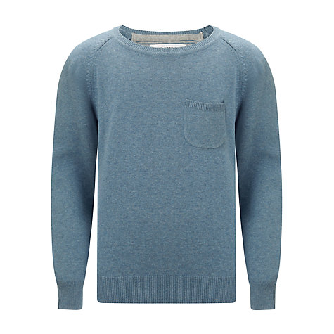 Buy Ben Sherman Boys' Melange Pocket Jumper, Blue Online at johnlewis.com