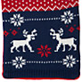 Buy John Lewis Boy Fair Isle Reindeer Scarf, Navy/Red Online at johnlewis.com