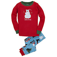 Buy Hatley Snow Tired Pyjamas, Red Online at johnlewis.com
