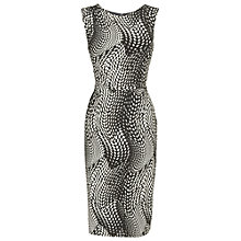 Buy Phase Eight Dotty Wave Dress, Black/Cream Online at johnlewis.com