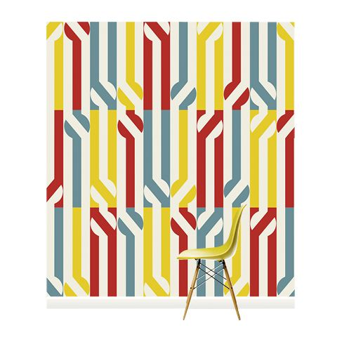 Surface View Surface View Stripey Circle Wall Mural, 240 x 265cm