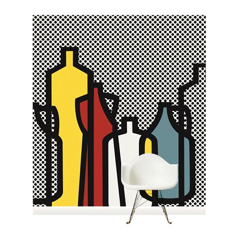 Surface View Surface View Pop Bottles Black Wall Mural, 240 x 265cm