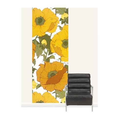 Surface View Surface View Summer Poppies Wall Mural, 100 x 265cm