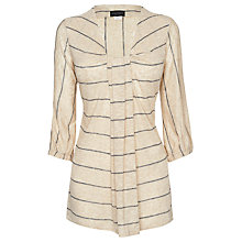 Buy James Lakeland Stripe Tunic Top, Beige/Navy Online at johnlewis.com