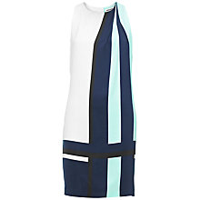 Buy Whistles Karlie Scarf Print Dress, Blue Online at johnlewis.com