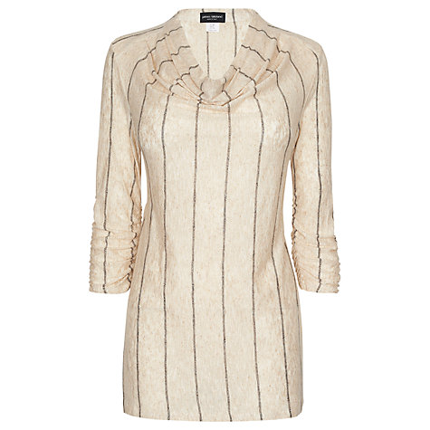 Buy James Lakeland Stripe Tunic Top, Beige Online at johnlewis.com
