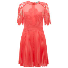 Buy Whistles Wren Lace Dress, Pink Online at johnlewis.com
