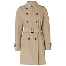 Buy Aquascutum Double Breasted Trench Coat, Beige Online at johnlewis.com