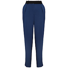 Buy Whistles Clarisse Crepe Trousers, Navy Online at johnlewis.com