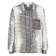 Buy Reiss Snake Print Shirt, Black Online at johnlewis.com