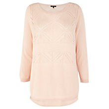 Buy Warehouse Tribal Jumper, Light Pink Online at johnlewis.com