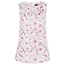 Buy Oasis Floral Shell Top, White / Pink Online at johnlewis.com